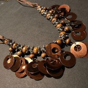 Brown-Beaded Necklace